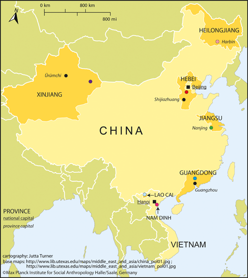 Social Support And Kinship In China And Vietnam Max Planck - Map of china and vietnam