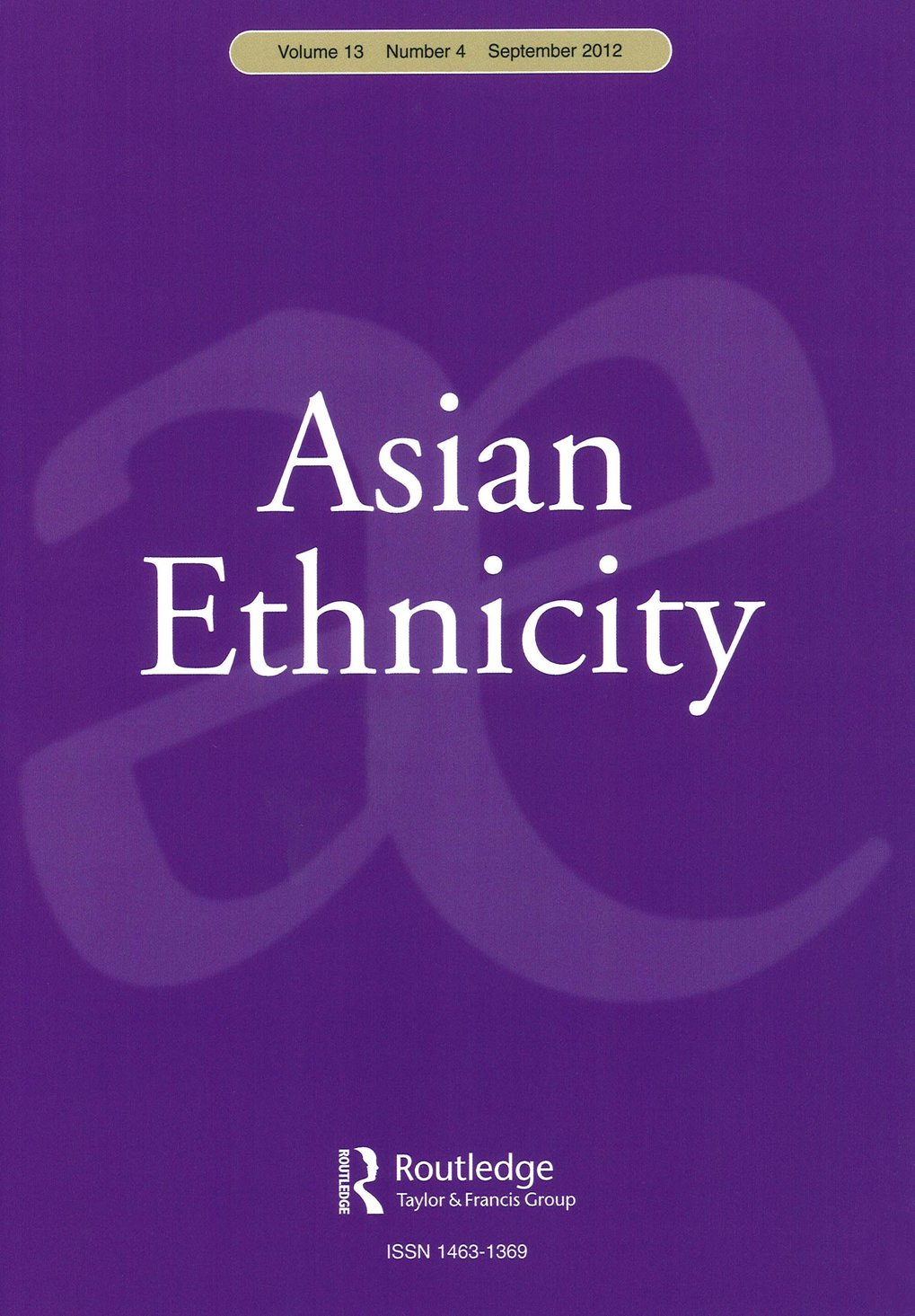 Asian Ethnicity. Special Issue: Law and religio-ethnic identity in post-New Order Indonesia
