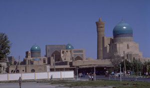 The city of Bukhara is famous for its architectural heritage. In the Soviet period much of the inner city was converted into an open museum.