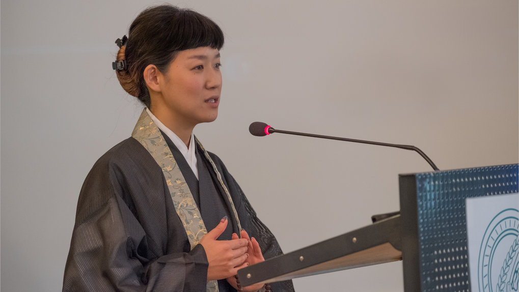 Ariya Sasaki (Hôrenji Temple, Kyoto) ■ Titel ihres Vortrags: Being a Buddhist Priestess: The inner fabric of a sustainable and compassionate temple ■ Foto: © Max-Planck-Institut für ethnologische Forschung