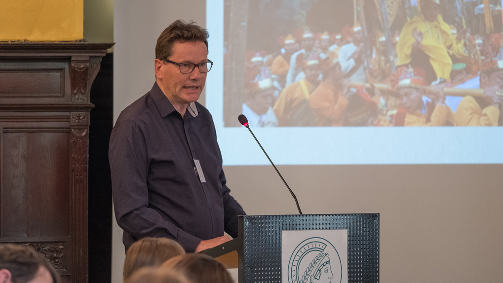 Alexander Horstmann (Tallinn University, Tallinn) ■ Titel seines Vortrags: Building the Land of the Buddha in the Golden Triangle: Entanglements of Theravadin saints, economy and society in the Mekong region ■ Foto: © Max-Planck-Institut für ethnologische Forschung