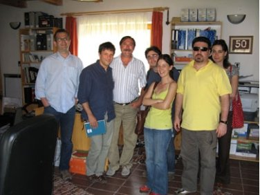 Visiting one of the local offices of the 'Our Home, the Balaton Uplands' rural development association in Kapolcs during a one-week seminar on rural development taught by Dr. Andrew Cartwright in May 2009.