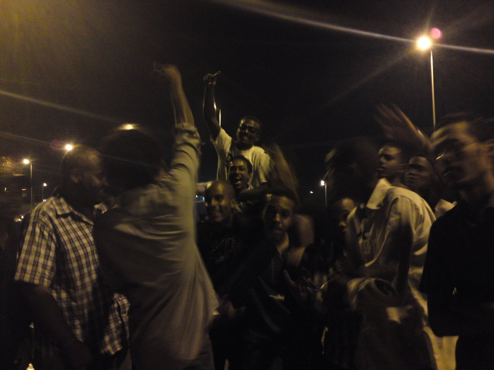 <p>Rappers on Nile Street in Khartoum after a long evening of performing rap to the beat provided by a mobile phone. Personal experiences and opinions are expressed in their rap music. <br /><br />Photo: Timm Sureau, Khartoum, Sudan, 2011<br />Max Planck Institute for Social Anthropology</p>