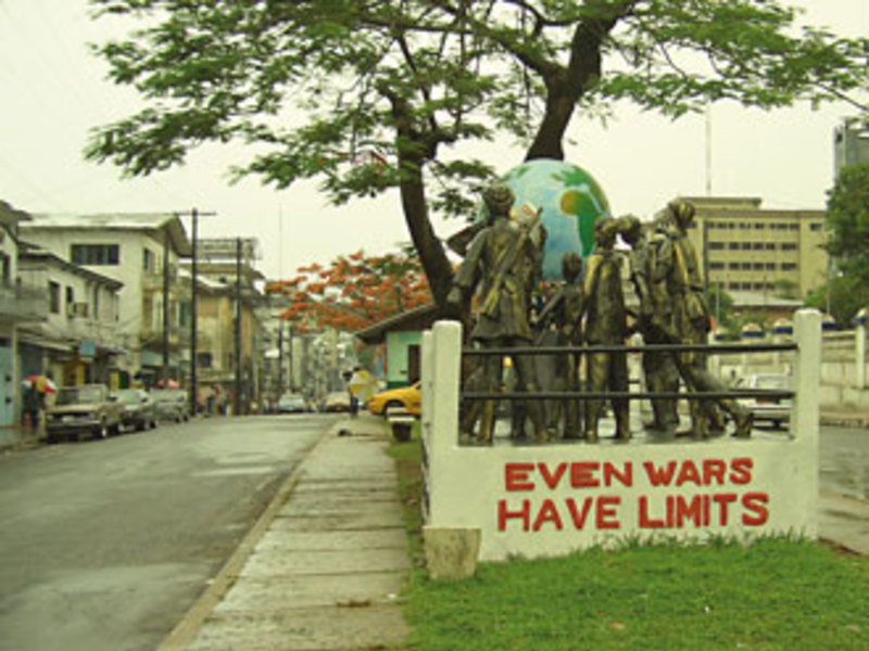 War monument in central Monrovia, Liberia