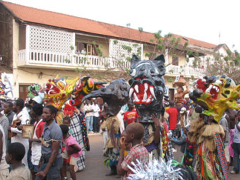 Main carnival rally in Bissau, Guinea-Bissau