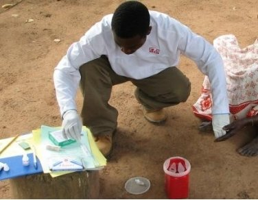 Blood Drawing and Interviewing for a Malaria Survey (2006)
