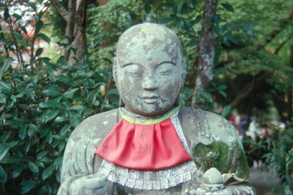 Statue of the bodhisattva Jizô in Kyoto (Photo: Christoph Brumann, 2012).