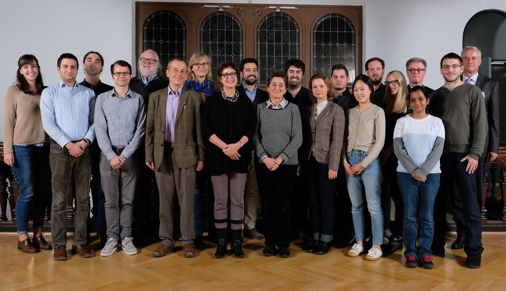 Ph.D. students (fourth cohort) with members of the Principal Faculty and the coordinator