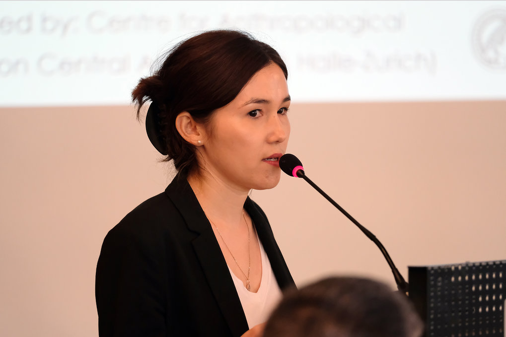 Indira Alibayeva (Max Planck Institute for Social Anthropology, Halle/Saale, Germany) introduces the workshop ■ Photo: © Max Planck Institute for Social Anthropology