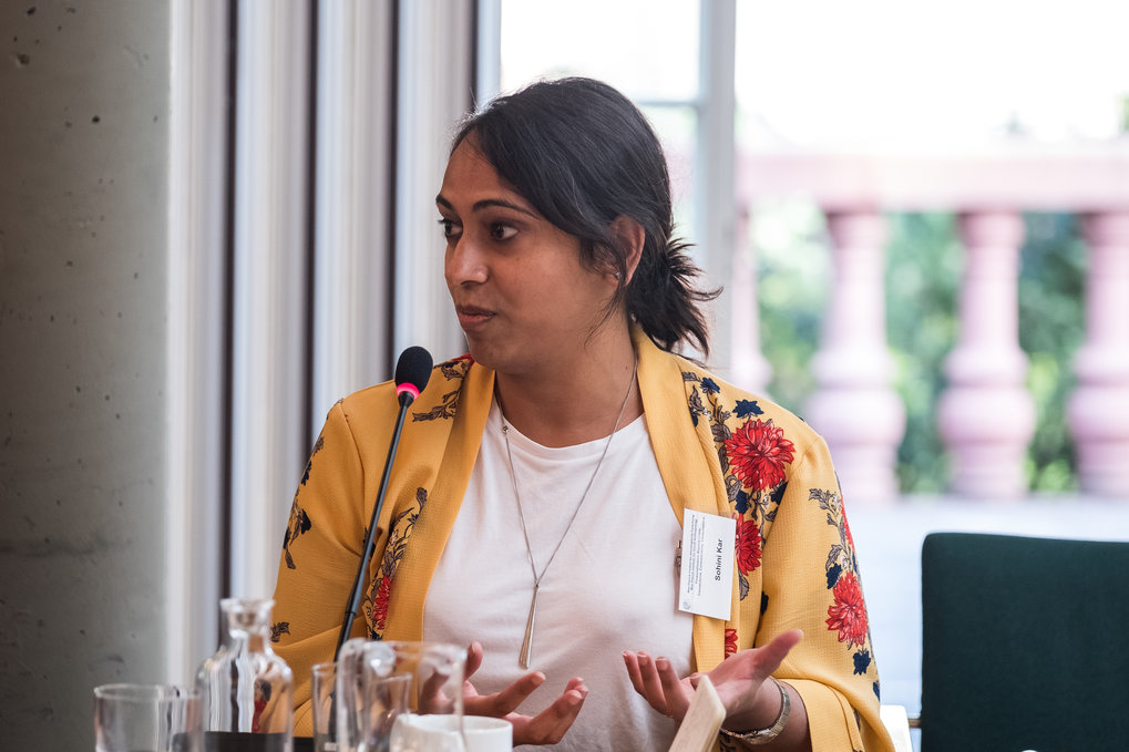 Sohini Kar, London School of Economics and Political Science ■ Titel ihres Vortrags: Accumulation by Saturation: Welfare under financialisation in India ■ Foto: © Max-Planck-Institut für ethnologische Forschung