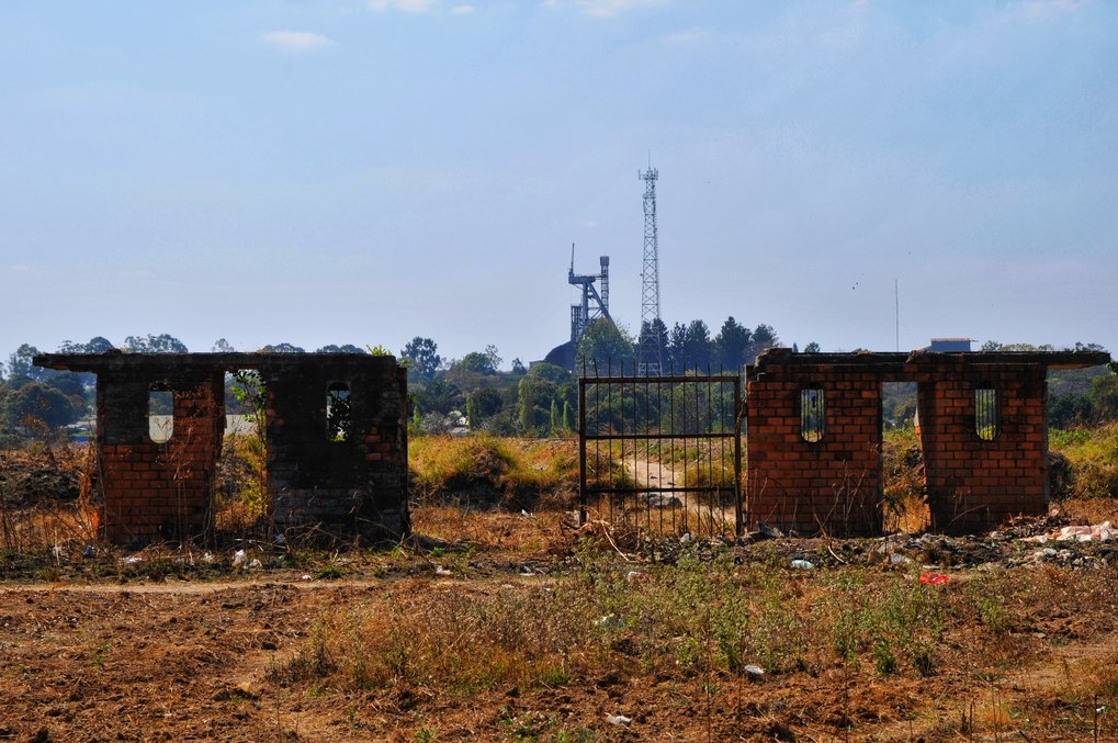 Post-industrial ruination on the Copperbelt in Zambia